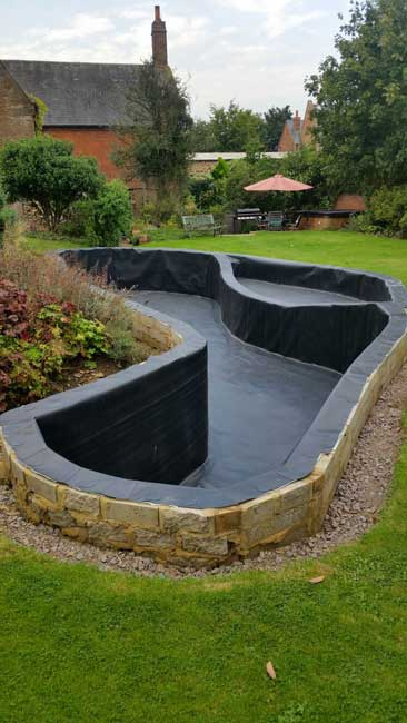 Tank liners water storage tank refurbishment pond for Fish pond installers